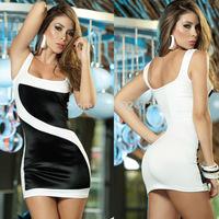 Free shipping Factory direct 2014 women's Sexy Slim package hip black white nightclub dress club clothing vestidos casual dress