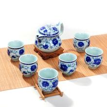 Double layer tea sets kung fu tea gift set teaports big cup flower tea black tea set porcelain teaset tp06
