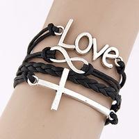 creative reuse Gupi Sheng weaving letters 8 accessories new cross  style bracelet wholesale foreign trade Charm Bracelets