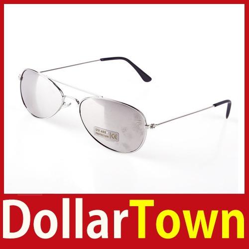 comprar rapidamente dollartown Cool Fashion bebê Crianças crianças menina do menino dos óculos de sol do quadro do metal Criança Goggles 02 de alta qualidade melhor(China (Mainland))