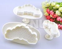 3pcs/set Small Love Heart Print Cutters cake sugarcraft mold Decorating Tools