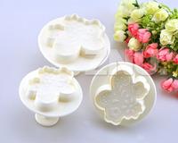 3pcs/set Small Flower Print Cutters cake sugarcraft mold Decorating Tools