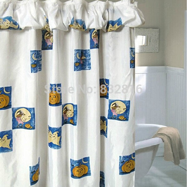 halloween 100 polyester printed shower curtain bathroom with water