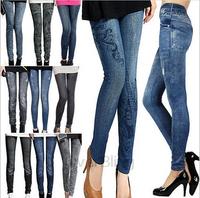 S-XL New 2014 Autumn-Winter Fashion Pants For Women Plus Size Jeans Hole Pleated Prints Pants Casual Leggings 14 Colors