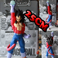 New 2014 hot toys PVC Japanese anime dragon ball z action figures Super Saiyan 4 Vegeta 25cm large figurine dolls for boys gift