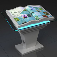 New advertising product interactive projection book  used for product show