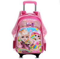 2014 cartoon children school bag princess bags for girls backpacks bolsa de crianca mochila printing kids backpack  schoolbag