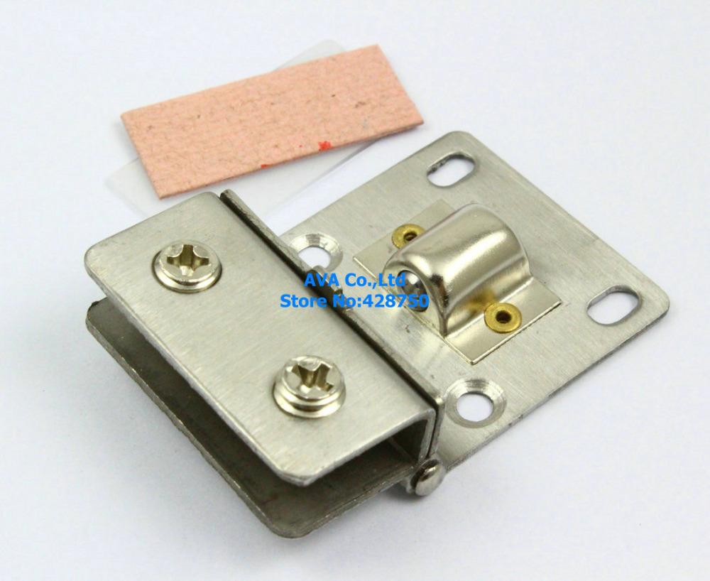 4 Pieces Cabinet Glass Pivot Door Hinge Clamps For 4-8mm Glass Door(China (Mainland))