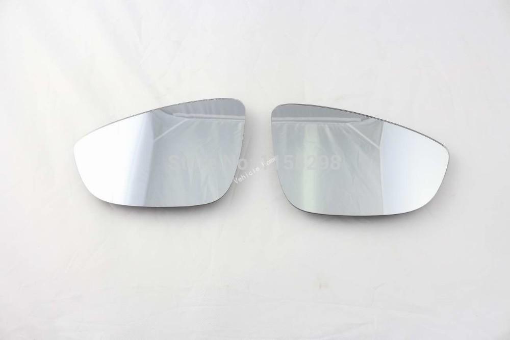 Pair of Door Side Mirror Glass for VW Volkswagen Passat B7 CC Scirocco Beetle(China (Mainland))
