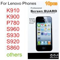 10pcs Screen protector protective film guard For Lenovo K910 k900 P780 S960 s930 S860 S650 etc. mobile phone