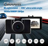 "Full HD1080P 3.0"" LCD 170 Degree Angle G-Sensor H.264 HDMI Motion Detection Car DVR Dash Video Recorder C8000H Novatek 96650"