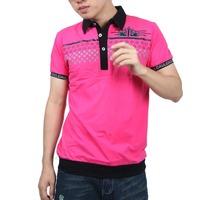 Fashion Men Summer Men's Plaid Checked Tops Shirts Short Sleeves Pockets Causal T-shirts Free&DropShipping
