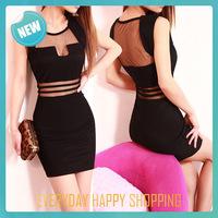 New 2014 brands backless women dress, black ladies bodycon sleeveless one-piece dress sexy club dress for fashion lady