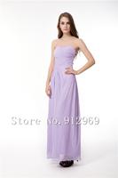 Purple bridesmaid dresses ankle-length bridesmaid dress plus size chiffon women dress