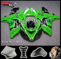 ZX10R 2006 2007 Free Helmet Bag Fairing green black  Body Kit for Kawasaki Ninja ZX10-R 2007 2006