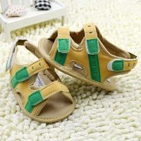 wholesale 6pairs/lot baby summer boys sandals for first walkers, baby shoes footwear prewalker soft sole shoes