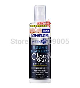 Korean Skincare Dream Skin Black Head Clear Wash for Men 100ml Free Shipping Personal Face Care Blackhead Remover(China (Mainland))