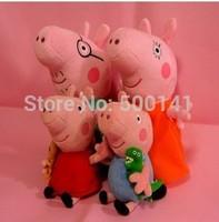 Daddy Mummy Pig Peppa George Pig family Plush Toy Set Movie TV large sizeTeddy Stuffed Animals Doll Baby Kids Stuffed Toy 30sets