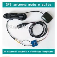 DIY quadcopter/multirotor GPS module + external antenna + USB debugging level converter cable can be connected computer