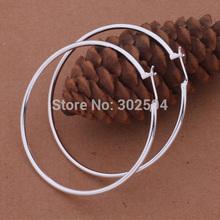 precio de fábrica AE569 círculo mayor mujeres de la señora chica 925 pendientes de plata de alta calidad de la moda de la joyería clásica antialérgico(China (Mainland))