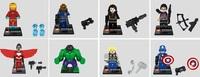 8pcs Building Bricks Blocks Marvel Super Heroes Avengers Captain America Thor Irom Man Black Widow HUlk action mini figures toys