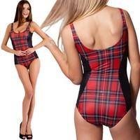 [YY039]Wholesale best-selling new Summer dress 2014 Europe Usa women's grid stripe printed a swimsuit,swimwears,swimwear women