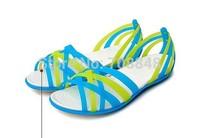 Free shipping 2014 fashion footwear wholesale sandals blue green eva sandals  Women Women's Huarache Flat  2   color w5-w9