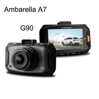 """G90 Car camera Ambarella A7 1080P Full HD Car DVR Recorder Detector Video Registrator 2.7""""LCD Dash Cam G-Sensor New 2014"""