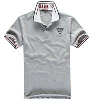 2014 new turn-down collar cotton fashion comfortable t shirt men 4colors S,M,L,XL,XXL Free shipping