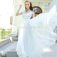 Korean version of the ultra-thin Slim mopping fairy fairy chiffon dress Free Ship Women Clothing