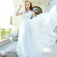 Korean version of the ultra-thin Slim mopping fairy fairy chiffon dress Free Ship Women Clothing