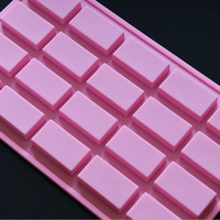 New 20 Squares Shape Silicone Hand Make Soap Chocolate Modelling Mold Ice Candy Shaping Cake Decorating Tools