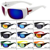 New 2014 SunGlasses UV 400 Polarized Cool Cycling Riding Bicycle Sports Protective Goggle Sunglasses White  Frame Blue Lens
