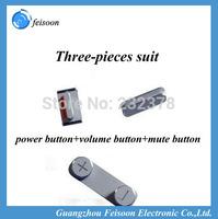 10set/lot side button fastener, volume key power key mute button shim, mountingblock for iPhone 4/4G 3pc/set