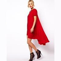 Dovetail Pendulum Long Paragraph Short-Sleeved Summer Dress 2014 XS S M L XL XXL Women Dress HDY1-5