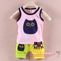 Boys summer clothing 2014 child summer clothing clothes baby set 0-1 - 2 - 3 baby sleeveless