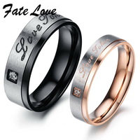 Romantic Italina brand  new Stainless steel  Classic LOVE design Crystal  couple ring wedding rings for women jewelry 416