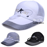 Lengthen hat brim baseball cap for outdoor sun hat male summer sunscreen women's sunbonnet casual windproof mesh cap