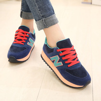 new 2014 spring casual platform sport shoes low heels women's fashion canvas shoes 670 free shipping