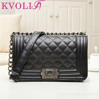 fashion plaid women handbag casual chain shoulder bags messenger bags new 2014 HL1917