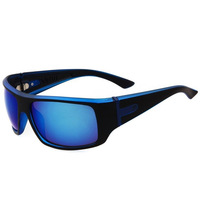 NEW DESIGNER UV 400 POLARIZED  MENS WOMENS GOLFING CYCLING SPORTS RUNNING SKIING SUNGLASSES BLUE FRAME BLUE LENS