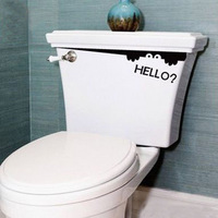 free shopping the toilet peeping the elves Creative cartoon funny post waterproof wall of setting of toilet  5pce