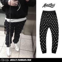 2014 New Fashion Mens Athletic Trousers Hip Hop Dance Sport harem cotton sweatpants loose flowers cashers Casual jogging pants
