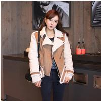 2014 women's elegant luxury zipper decoration large lapel slim wadded jacket outerwear Free shipping
