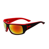 New Charming Black+Red Frame Colorful Lens Polarized Cycling Glasses Bike/Bicycle Sports Sunglasses UV 400