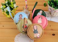 Wholesale women housekeeper designer zipper cute doll key holder cylindrical coin purse brand mobile phone bag free shipping