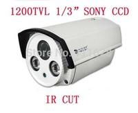 "Wholesale - Full HD 1200TVL 1/3"" SONY CCD IR Security Camera 4/6/8/12mm Lens Color CCTV Waterproof Camera"