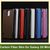 100pcs X Carbon Fiber Skin Electroplated Aluminum Hard Metal PC Cover Case for Samsung Galaxy S V S5 Mini DHL/EMS Free Shipping