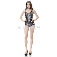 NEW 2014 hot salenew women digital printing black swimsuit  swimwears  3D Printed swimwears  sexy one piece swim suits