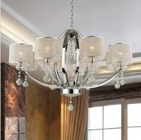 Free Shipping Modern Pendant Lamp lights for home bedroom Crystal Chandelier JP6311/8L D830MM H530MM